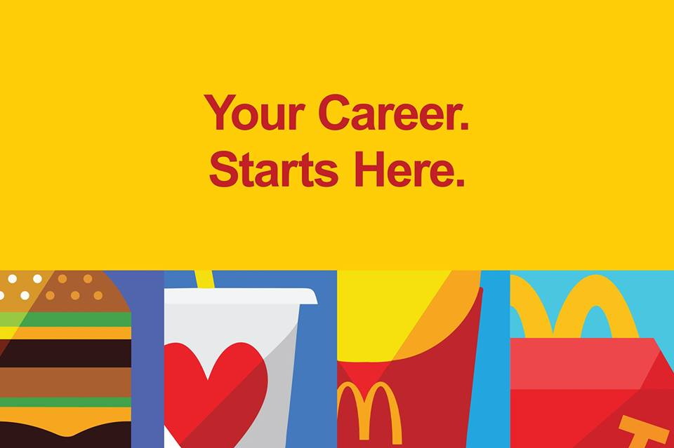 McDonald's is hiring in our area!